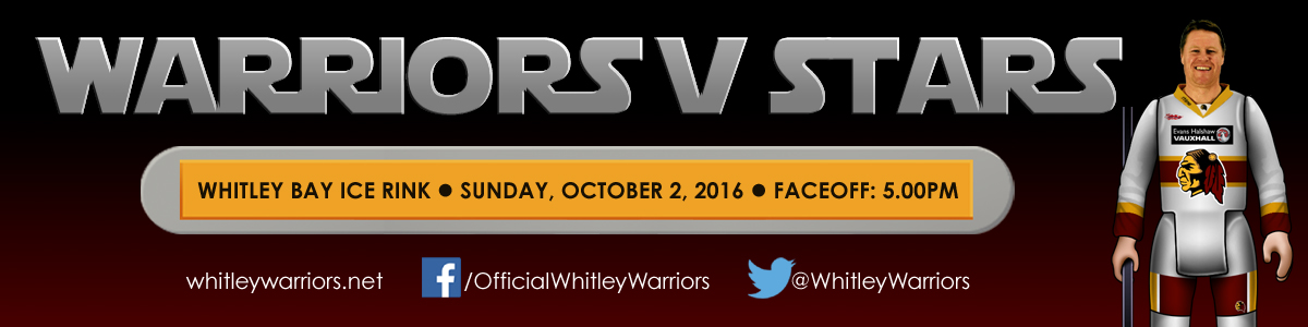 Whitley Warriors vs Billingham Stars @ Whitley Bay Ice Rink - Sunday 2 October 2016, face off 5pm